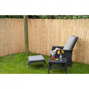 Nature Paravan de grădină, 2 buc., 500x150 cm, stuf bambus