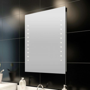 Oglinda de baie cu lumina LED 60 x 80 cm
