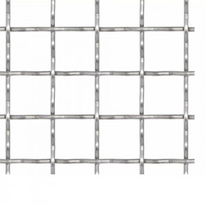 Panou plasă sârmă ondulată 50x50 cm 11x11x2 mm oțel inoxidabil