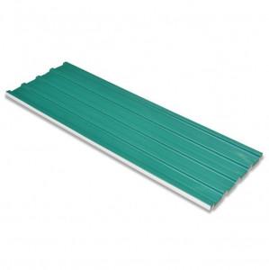 Panouri pentru acoperiș, oțel galvanizat, verde, 12 buc.