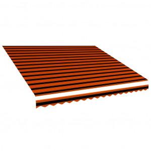 Pânză de copertină, portocaliu și maro, 450 x 300 cm