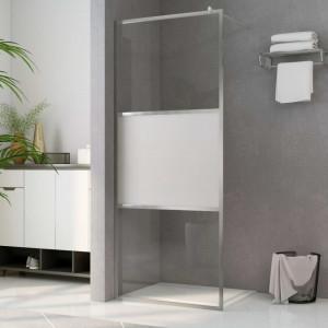 Paravan de duș walk-in, 115 x 195 cm, sticlă ESG semi-mată