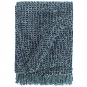 Pătură decorativă, albastru indigo, 125 x 150 cm, bumbac