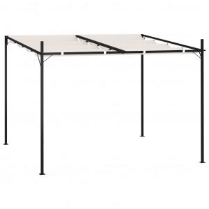 Pavilion cu acoperiș retractabil, crem, 300x300x233 cm