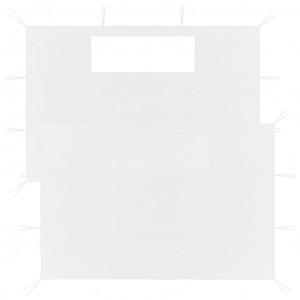Pereți laterali pentru foișor cu ferestre, 2 buc., alb