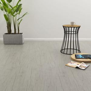 Plăci autoadezive pardoseală stejar decolorat PVC 4,46 m² 3 mm