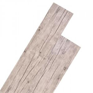 Plăci de pardoseală, stejar decolorat, 5,26 m², 2 mm, PVC