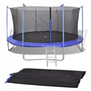 Plasă de siguranță pentru trambulină rotundă 3,96 m negru PE