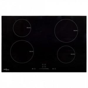 Plită inducție 4 arzătoare control tactil, sticlă 77 cm 7000 W