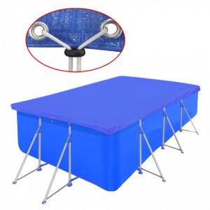 Prelată pentru piscină, 394x207cm, PE, dreptunghiular, 90 g/mp