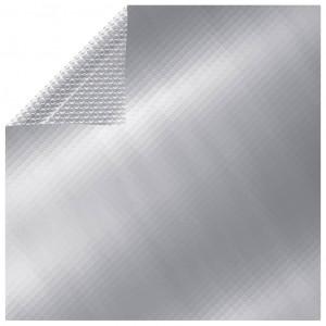 Prelată piscină, argintiu, 549 x 274 cm, PE