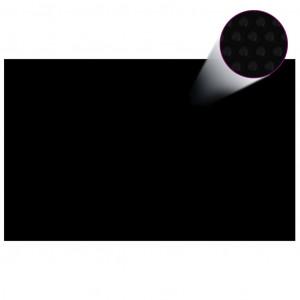 Prelată piscină, negru, 800 x 500 cm, PE, dreptunghiular