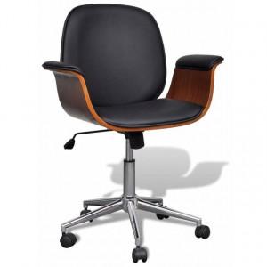 Scaun birou cu înălțime reglabilă din piele artificială