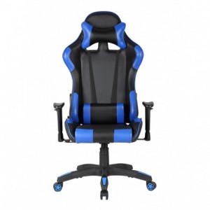 Scaun gaming GN90 Silverstone negru - albastru