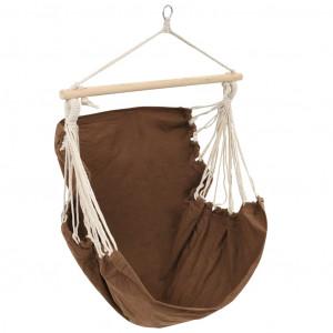 Scaun leagăn/hamac mare din material textil, maro