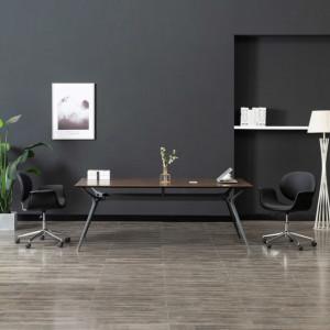 Scaun pivotant de birou, negru, piele ecologică