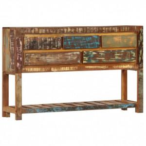 Servantă, 120 x 30 x 75 cm, lemn masiv reciclat