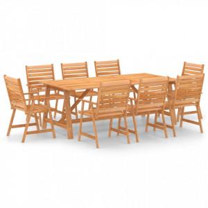 Set mobilier de grădină, 9 piese, lemn masiv de acacia