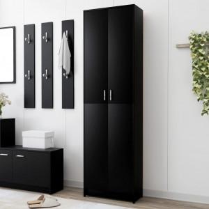 Șifonier de hol, negru, 55 x 25 x 189 cm, PAL