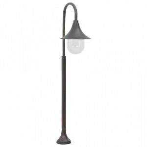 Stâlp de iluminat pentru grădină, bronz, 120 cm, aluminiu, E27