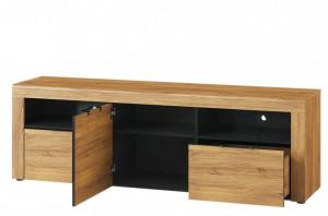Stand tv Kama 25 (tv stand) oak camargue/black