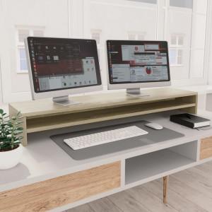 Suport monitor, stejar Sonoma, 100 x 24 x 13 cm, PAL