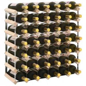 Suport sticle de vin pentru 42 sticle, lemn masiv de pin