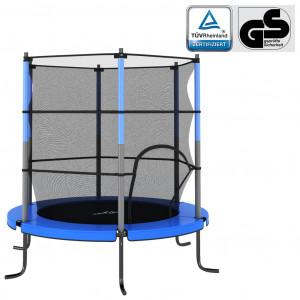 Trambulină cu plasă de siguranță, albastru, 140x160cm, rotund