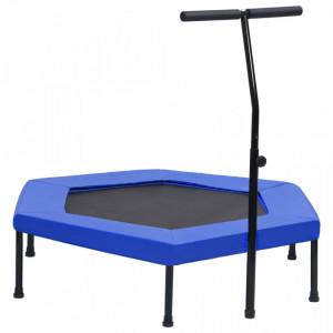 Trambulină de fitness mâner și margine siguranță 122 cm hexagon