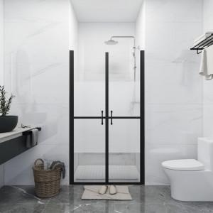 Ușă cabină de duș, jumătate mată, (73-76)x190 cm, ESG