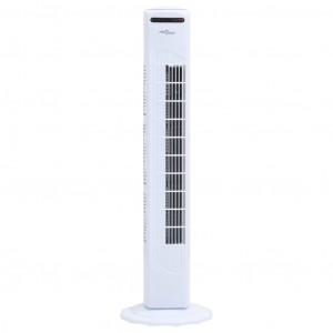 Ventilator turn cu telecomandă și temporizator alb Φ24x80 cm