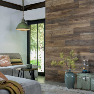WallArt Panouri de perete imitație lemn maro închis stejar tip hambar