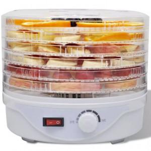 Deshidrator de alimente cu 6 tăvi rotund