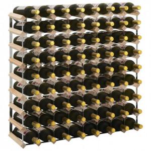 Suport sticle de vin pentru 72 de sticle, lemn masiv de pin