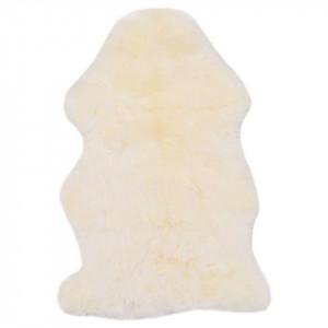 Covor din blană de oaie, alb, 60 x 90 cm