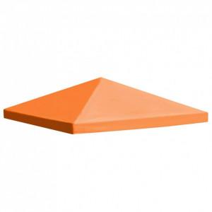 Acoperiș de pavilion, 310 g/m², portocaliu, 3 x 3 m