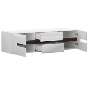 Azteca 001 TV Stand 2D2S / 4/15 alb / alb gloss high