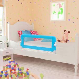 Balustradă de siguranță pentru pat copil, albastru, 102x42 cm