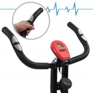 Bicicletă magnetică X-Bike cu măsurare puls, negru și roșu