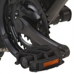 Bicicletă montană 21 viteze, roată 29 inci, cadru negru, 48 cm