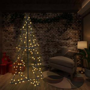 Brad Crăciun conic 115x150 cm, 240 LED-uri, interior & exterior