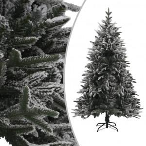 Brad de Crăciun artificial cu zăpadă, verde, 150 cm, PVC & PE