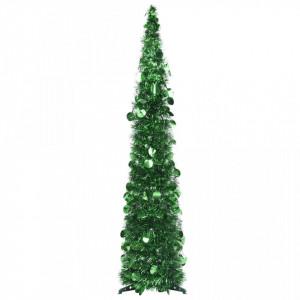 Brad de Crăciun artificial tip pop-up, verde, 120 cm, PET