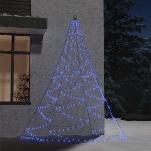 Brad de perete cârlig metalic albastru 260 LED 3 m int/exterior