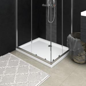Cădiță de duș dreptunghiulară din ABS, alb, 70x90 cm