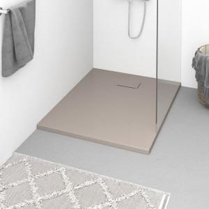 Cădiță de duș, maro, 100x80 cm, SMC