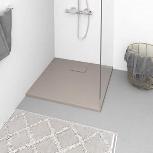 Cădiță de duș, maro, 80x80 cm, SMC