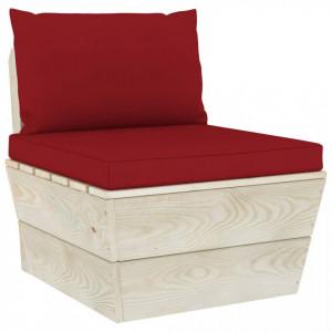 Canapea de grădină din paleți, de mijloc, cu perne, lemn molid
