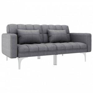 Canapea extensibilă, gri deschis, material textil