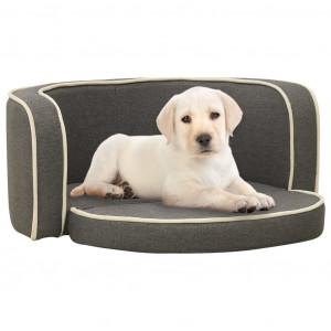 Canapea pliabilă de câini, gri, 76x71x30 cm, pernă lavabilă in